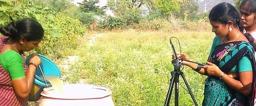 women filming agricultural videos