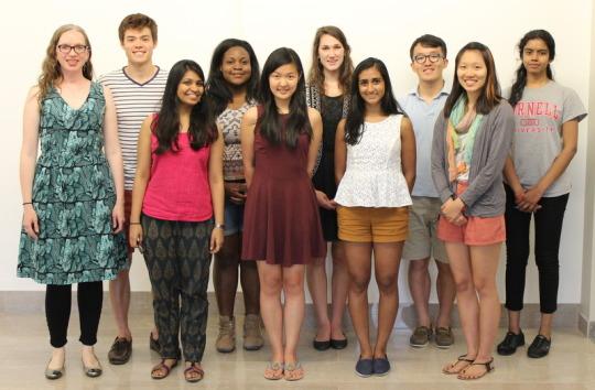 group of TCI Interns